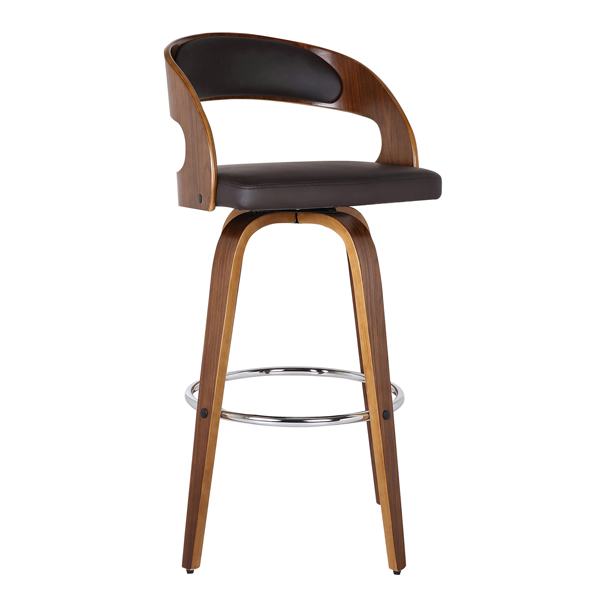 Mid-Century Modern Swivel Counter Stool Walnut