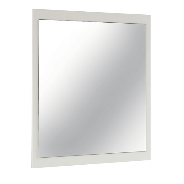 White High Gloss Finished Mirror for Dresser or Wall