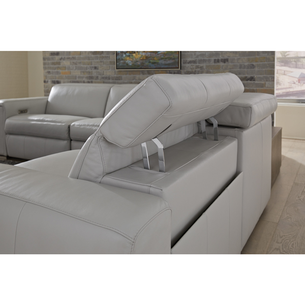 Leather Sectional with Power Recliner & Headrest #781
