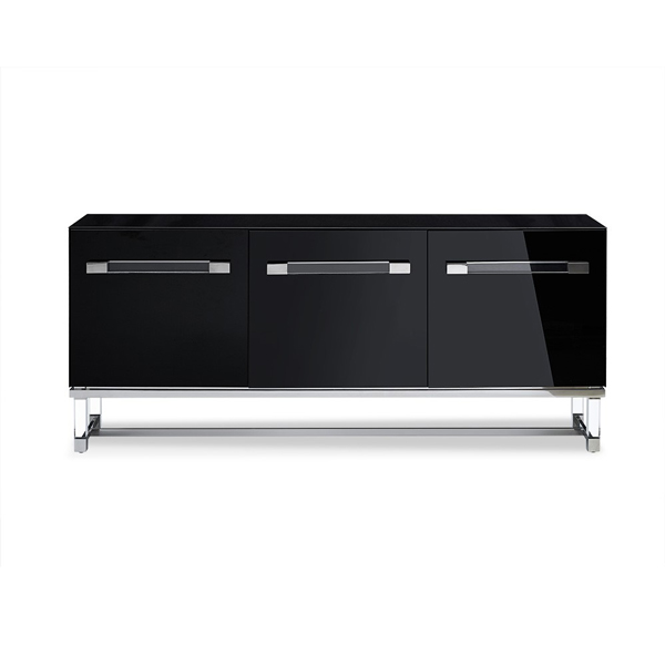 Modern Contemporary Black Glass Buffet Sideboard with Acrylic SB1456 Whiteline