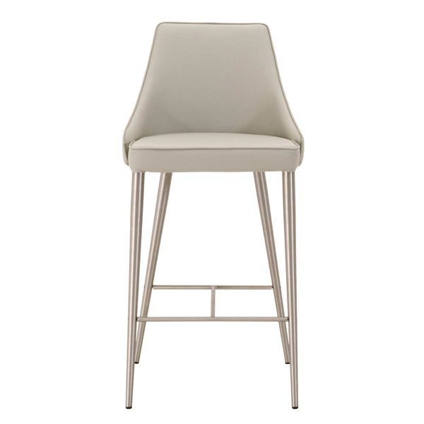 Ivy Upholstered Seat & Back Brushed Steel Counter Stool