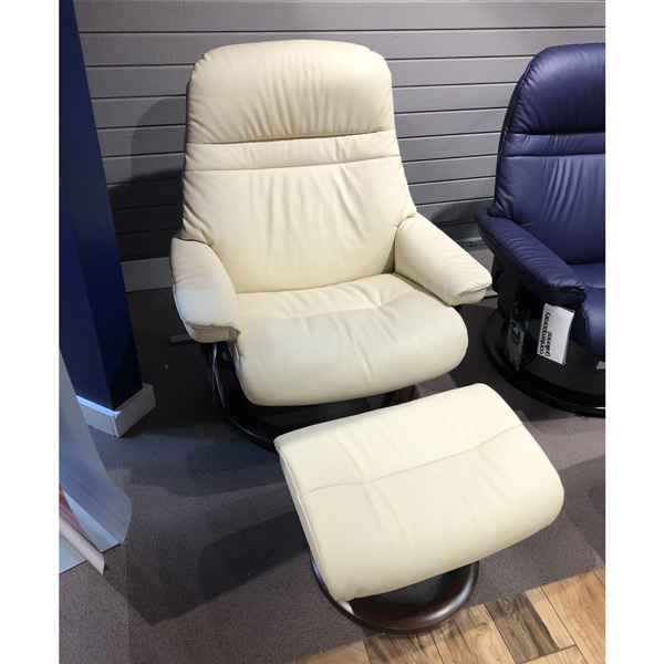 Superb Stressless Sunrise Large Recliner Ottoman 460 Ncnpc Chair Design For Home Ncnpcorg