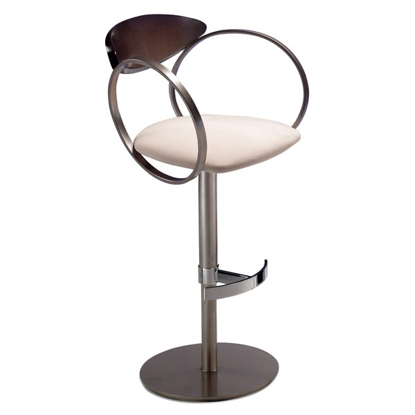 Elite Modern Eclipse Adjustable Stool with Arms