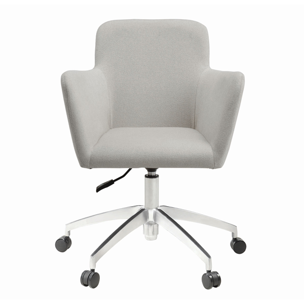 Upholstered Fabric Desk Chair with Arms