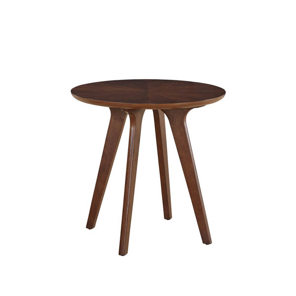Contemporary Galleries Mid Century Round End Table 1061