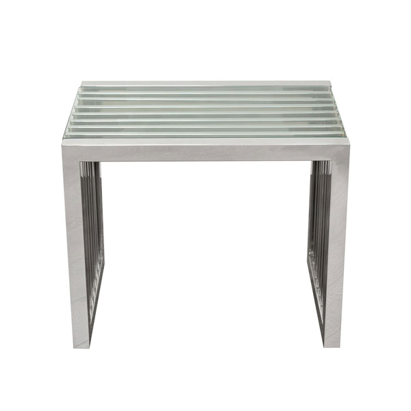 Metal & Glass End Table #1047