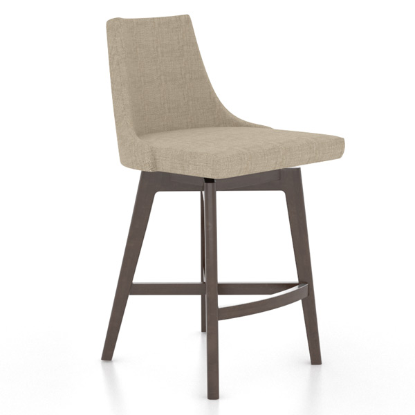 Canadel Mid-Century Solidwood Swivel Counter Stool
