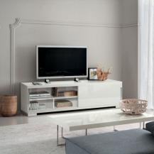 Alf Italian Made in Italy White High Gloss TV Stand 73 inch width by 20 inch height