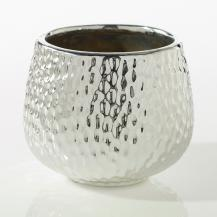 Hammered Flower Pot 4.5""