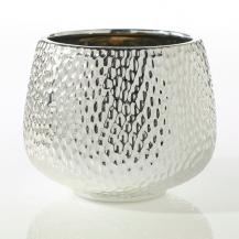 Hammered Flower Pot 6""