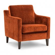 Vilmers Transitional Box Track Arm Chair with Wood legs Liza