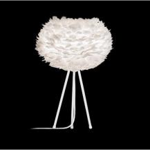 Feather Tripod Table Lamp White
