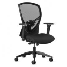 @NCE 216 Black Mesh Back Arm Desk Chair with Mesh Seat Holds up to 300 lbs Modern