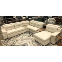 Palliser Apex 12 foot wide leather sectional with power storage & wireless chargers 44008