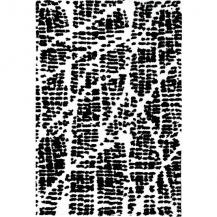 Black & White Simple Spaces Accent Rug Contemporary Modern ss-kr007b