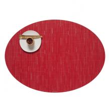 Chilewich Oval Bamboo Placemat Poppy Red 100103