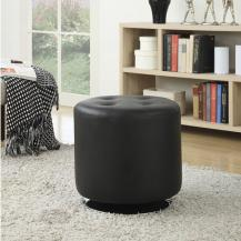Round Swivel Ottoman Black