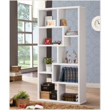 8 Cubicle Bookcase White