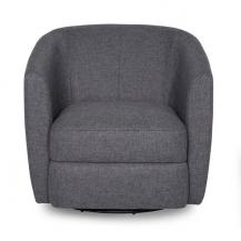 Fabric Tub Swivel Chair Tight seat & back 34 inch wide