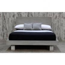 Rustic Grey Contemporary Platform Bed