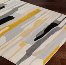 Abstract Contemporary Area Rug Durable Thin Pile