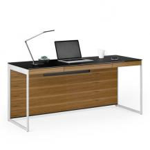 Sequel 20 by BDI Small Office Desk Collection with Natural Walnut with Metal legs 6101