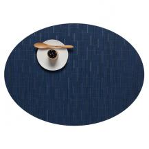 Chilewich Oval Bamboo Placemat Lapis Blue 100103-028