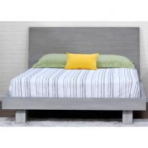 Contemporary Asian Fair Driftwood Platform Bed