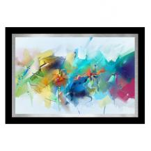 LED Back lit multi-color abstract artwork print with color changes contemporary