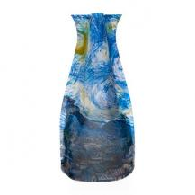 Vincent Van Gogh Starry Night Flower Vase Stores Flat
