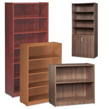 Office Source Laminated Bookcases with Optional Doors