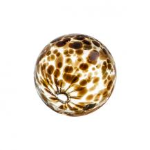 "Glass Sphere 3"" Spots Chocolate"