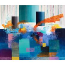 Geometric Colorful Affordable Giclee Artwork Art for Wall 48 x 36 inch Daleno