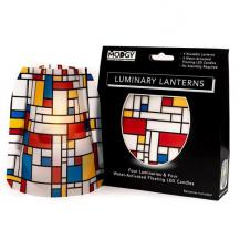 Party Wedding Patio Tabletop Laterns LED candles Cool Mondrian